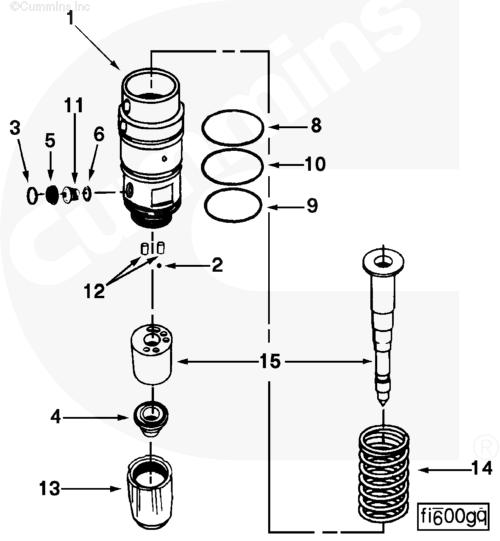 cceco 3053124 Injecteur de carburant du moteur K38
