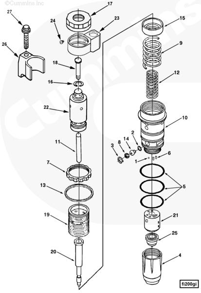 CCEC 3406604 Inyector del motor M11